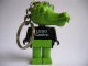 Gear No: KCF46  Name: Crocodile 1 Key Chain - Twisted Metal Chain, LEGO centre / Birkenhead Point Sydney pattern on torso