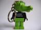 Gear No: KCF46  Name: Crocodile 1 Key Chain - newer metal chain, LEGO centre / Birkenhead Point Sydney pattern on torso