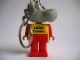 Gear No: KCF48  Name: Hippo 3 Key Chain - Twisted Metal Chain, LEGO centre / Birkenhead Point Sydney pattern on torso