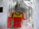 Gear No: KCF53  Name: Hippo 2 with collar Key Chain - Twisted Metal Chain, red LEGO logo on back