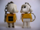 Gear No: KCF54  Name: Lamb 3 Key Chain - newer metal chain, black LEGO logo on back