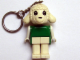Gear No: KCF63  Name: Lamb 2 Key Chain - Twisted Metal Chain, no LEGO logo on back, Green Shirt