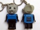 Gear No: KCF65  Name: Mouse 4 Key Chain - older metal chain, black LEGO logo on back