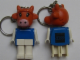 Gear No: KCF66  Name: Cow Key Chain - older metal chain, black LEGO logo on back