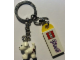Gear No: KCFrnd01  Name: Friends White Dog with Brown Spots Key Chain with Plate, Modified 3 x 2 with Hole and Tile 2 x 4 with Friends Pattern