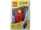 Gear No: LGL-KE10red  Name: LED Key Light Classic Space Minifigure Key Chain Red (LEDLite)