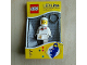 Gear No: LGL-KE10white  Name: LED Key Light Classic Space Minifigure Key Chain White (LEDLite)