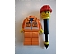 Gear No: LGO2202  Name: City Pen, Construction Worker Minifigure, Retractable