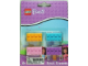 Gear No: LGO6565  Name: Eraser, Friends Brick Eraser Set of 4 (Bright Light Orange, Bright Pink, Medium Azure, Medium Lavender) blister pack