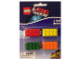 Gear No: LGO6715  Name: Eraser, The LEGO Movie Brick Eraser Set of 4 (Red, Yellow, Green, Orange) blister pack
