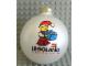 Gear No: LLCA01  Name: Christmas Tree Ornament, Ball, Minifigure in Santa Hat and Legoland California Pattern