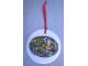 Gear No: LLCA05  Name: Christmas Tree Ornament, Legoland California Ceramic Plate with Minifigures Pattern