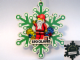 Gear No: LLCA45  Name: Christmas Tree Ornament, Legoland California Snowflake with Santa Pattern