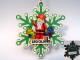 Gear No: LLCA45  Name: Christmas Tree Ornament, Legoland California Snowflake with Santa Pattern