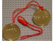 Gear No: LLmedal2  Name: Medal from Goldwash in Legoland - Metal, New Style, Brick Pattern