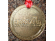 Gear No: LLmedal3  Name: Medal from Goldwash in Legoland - Metal, New Style, Brick with Flag Pattern (Legoland Deutschland)