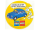 Gear No: LWSstk83de1  Name: Sticker Sheet, Lego World Show 1983 VW Beetle