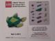 Gear No: MMMB1303DE  Name: Mini-Modell des Monats-Karte - 2013 03 März, Schildkröte