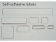 Gear No: Mx1606B  Name: Modulex Label Sheet for 1 x 4 Modulex Tiles
