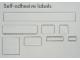 Gear No: Mx1606E  Name: Modulex Label Sheet for 2 x 4 Modulex Tiles