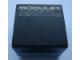 Gear No: MxBox11L  Name: Modulex Storage Box Black 1 x 1 with 'Made in Denmark' (Empty)