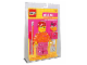 Gear No: P3116  Name: Desk Pal Girl with Orange Floral Top, Dark Pink Legs
