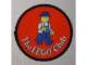 Gear No: Patch04  Name: Patch, Sew-On Cloth Round, The Lego Club (Classic Construction Worker Walking)