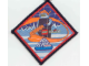Gear No: Patch05a  Name: Patch, Sew-On Cloth Diamond Black Border, Ice Planet 2002