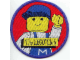 Gear No: Patch10  Name: Patch, Sew-On Cloth Round, The Lego Club (Classic Construction Worker)