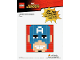 Gear No: TRUCapAm  Name: Toys R Us Exclusive Build Instructions: Captain America Mosaic