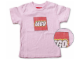 Gear No: TS47  Name: T-Shirt, Paul Frank Women's Distressed LEGO Logo, Pink