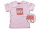 Gear No: TS49  Name: T-Shirt, Paul Frank Small Paul Kids' Distressed LEGO Logo, Pink