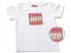 Gear No: TS51  Name: T-Shirt, Paul Frank Small Paul Kids' Distressed LEGO Logo, Cream