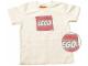 Gear No: TS55  Name: T-Shirt, Paul Frank Men's Distressed LEGO Logo, Cream