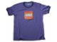 Gear No: TS56  Name: T-Shirt, Paul Frank Men's Distressed LEGO Logo, Purple