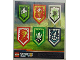 Gear No: WOR6941  Name: Sticker, Nexo Knights Power Shield Stickers - Sheet of 6