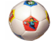 Gear No: bb0080pb01  Name: Ball, Inflatable Soccer Ball, Mini - Red, Yellow, Blue Pentagons Pattern