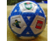 Gear No: bb0080pb02  Name: Ball, Inflatable Soccer Ball, Mini - Blue Triangles Pattern
