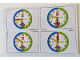 Gear No: bb0841  Name: Flash Card, Cardboard, Set of 4 on Punch Card for Time Teacher, Boy, Set 2