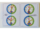 Gear No: bb0843  Name: Flash Card, Cardboard, Set of 4 on Punch Card for Time Teacher, Boy, Set 4