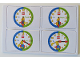 Gear No: bb0845  Name: Flash Card, Cardboard, Set of 4 on Punch Card for Time Teacher, Boy, Set 6
