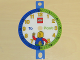 Gear No: bb1054  Name: Clock Face, Time-Teacher, Plastic with LEGO Logo and Minifigure with 'To' and 'Past' Text