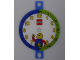 Gear No: bb1054b  Name: Clock Face, Time-Teacher, Plastic with LEGO Logo and Minifigure