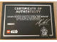 Gear No: certsw75252uk  Name: Star Wars UCS ISD 75252 Certificate, 20th Anniversary (UK Launch, Designer Signed)