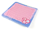 Gear No: clikits244  Name: Memo Pad, Clikits - Pink with Blue Border and Heart, Star and Daisy in the Corner