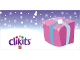 Gear No: clikits255pb02  Name: Gift Tag, Clikits Pink Package with Light Blue Ribbon