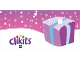 Gear No: clikits255pb03  Name: Gift Tag, Clikits Light Purple Package with Light Blue Ribbon