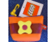Gear No: coinpurse02a  Name: Coin Purse, Scala Flower with Clip, Orange