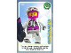 Gear No: ctw020  Name: Create the World Trading Card #020 Snowboarder