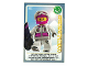 Gear No: ctw022FR  Name: Create the World Trading Card #022 La Snowboardeuse (French)